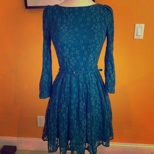 Blue Lace Dress Sz S